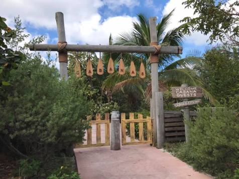 The entrance to the Cabanas.